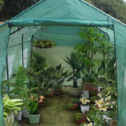 15′x7′x7′ Portable Greenhouse Plant Gardening Spiked Greenhouse Tent Farm Hardware Large Walk-in Heavy Duty Green Gardening Plant Hot Outdoor House (15′x7′x7′)