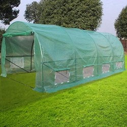 20ftx10ftx7ft -A Heavy Duty Plant Dome Greenhouse Tent Green Fabric Metal