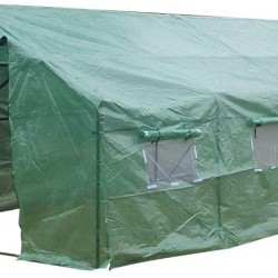 aAugust Tennyson 20′x10′x7′ Heavy Duty Greenhouse Tent Walk-in Spiked Outdoor Plant Gardening Greenhouse Gardening Accessory with Windows & Double Zipper