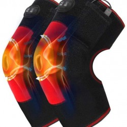 Electric Heating Knee Pad with 3 Heat Settings Battery Heated Knee Brace Wrap Suitable for Arthritis Pain Relief