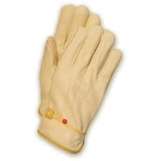2X Tan Premium Quality Cowhide Unlined n Cut Drivers Gloves With Straight Thumb And Bound Hem [Set of 12]