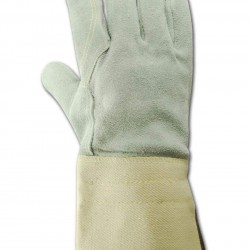 Magid Glove & Safety T374DPG-SP-L Top n Full Leather Double Palm Gloves with Gauntlet Cuff and Spectra Lining, Large, Off White (Pack of 12)