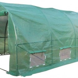 20′x10′x7′ Durable Outdoor Greenhouse Tent with Zipper Door, UV Protection/Insect Prevention, Large Dome Hot House Greenhouse Walk-in for Plants in Winter