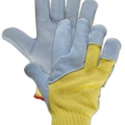 Magid Glove & Safety 93KVFLDPM-8 Magid Cut Master 93KVFLDPM Deerskin Leather Palm Glove, Made with Dupont Kevlar 5000, 7, Yellow, 8 (Pack of 12)
