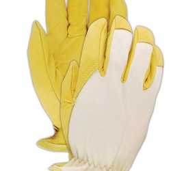 Magid Glove & Safety 1273DE-6 DuraMaster 1273DE Goat Grain Leather Jersey Back Drivers Gloves, Size 6 (Pack of 12)