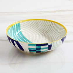 Hand-Painted Pasta Bowl