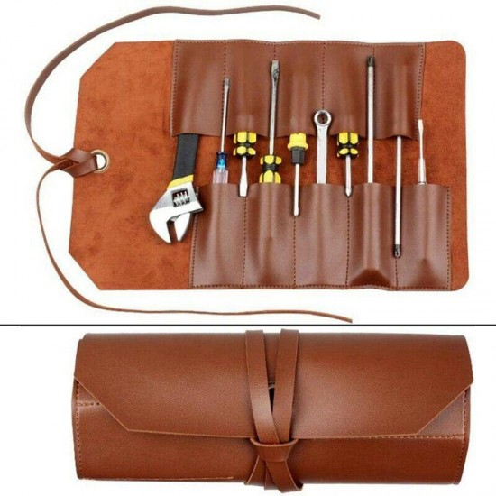 20X(Leather Tool Roll Leather Tool Kit Storage Bag Multi Functional Leather Q5K2